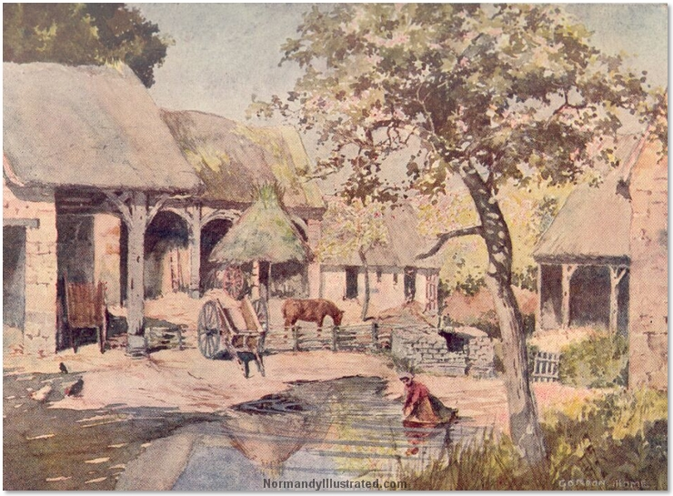 FARMYARD SCENE IN NORMANDY